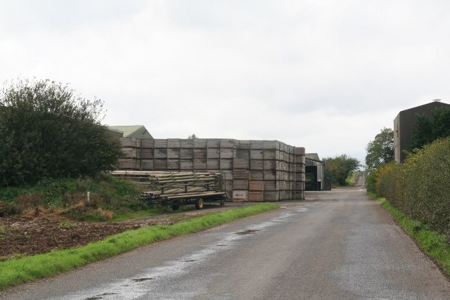 Crates at Northwold Farm, near Bonby Top