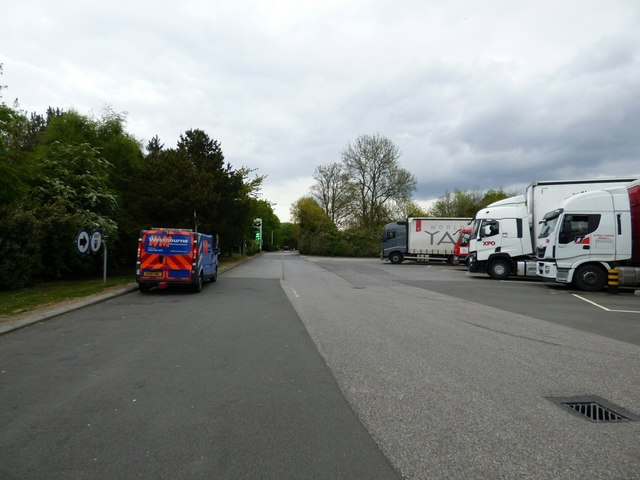 Lorries at Peas Pottage