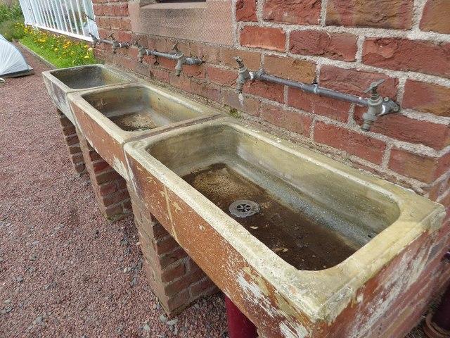 Sinks in a walled garden