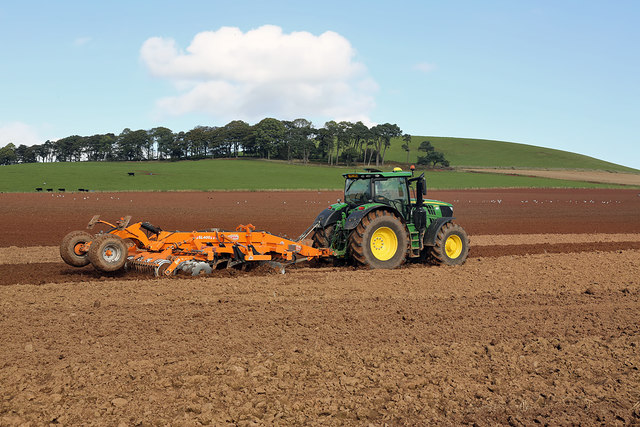Tilling a field near Darlingfield