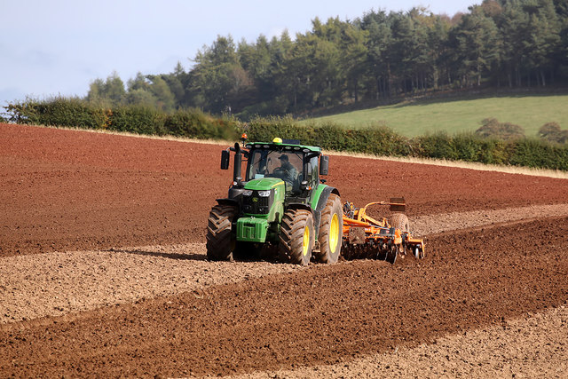 Tilling a field near Darlingfield