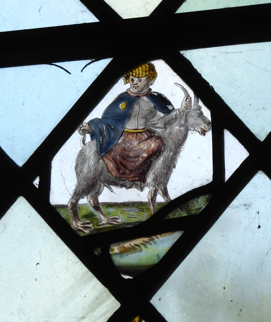 Church of St James the Great, East Malling: stained-glass fragment (1)
