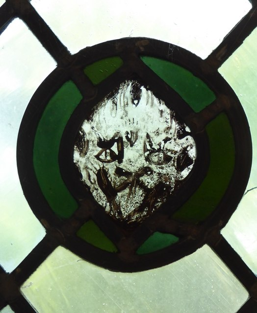 Church of St James the Great, East Malling: stained-glass fragment (3)
