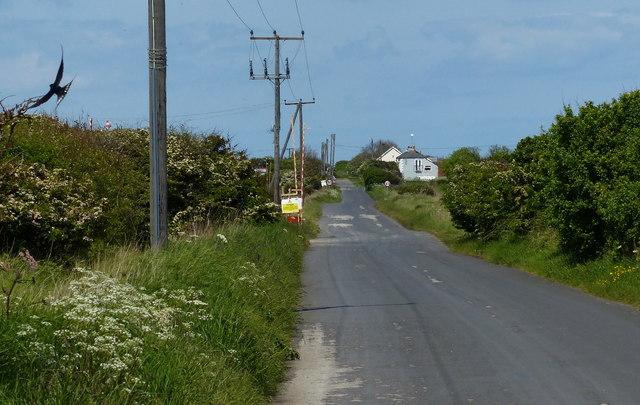 Spurn Road at Kilnsea