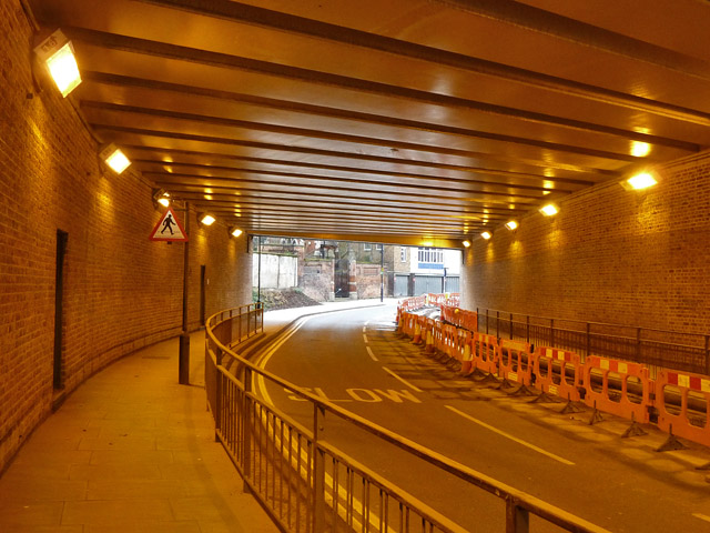 Camley Street passes under St. Pancras station approaches