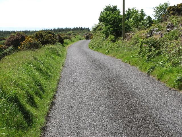The Piedmont-Upper Jenkinstown Road descending the eastern slopes of Slievenaglogh