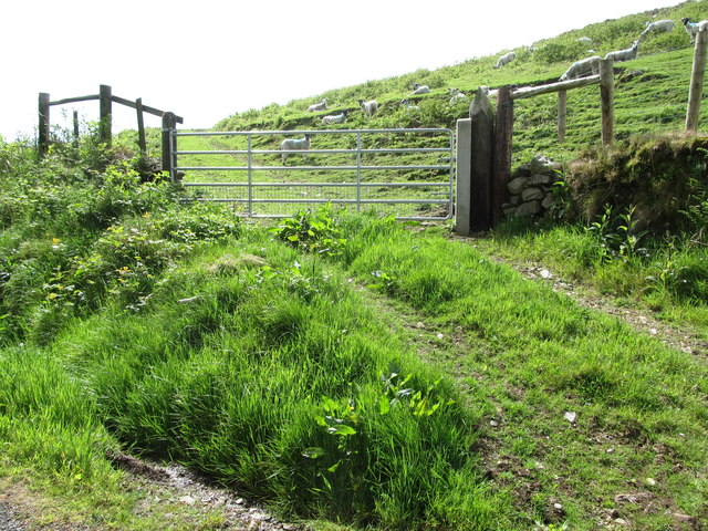 Entrance gate to sheep pasturage on the north-eastern shoulder of Slievenaglogh