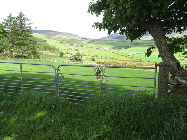 Double gates leading to improved pasture above the Little River valley