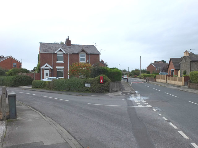 Postbox at the junction of Red Cat Lane and Moss Nook, Burscough