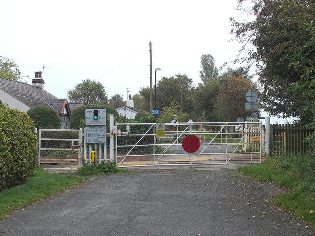 Level Crossing on Crab Tree Lane, Burscough