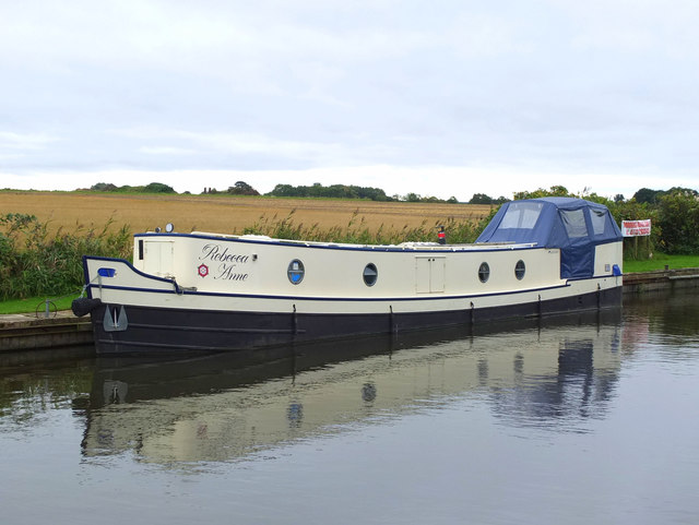 Rebecca Anne canal boat on the Leeds - Liverpool Canal