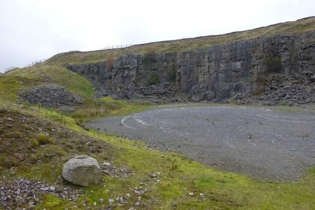 Quarry beside the B6278