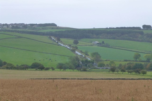 Looking across the valley of Houselop Beck