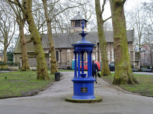 Drinking fountain in St Pancras Old Church Gardens