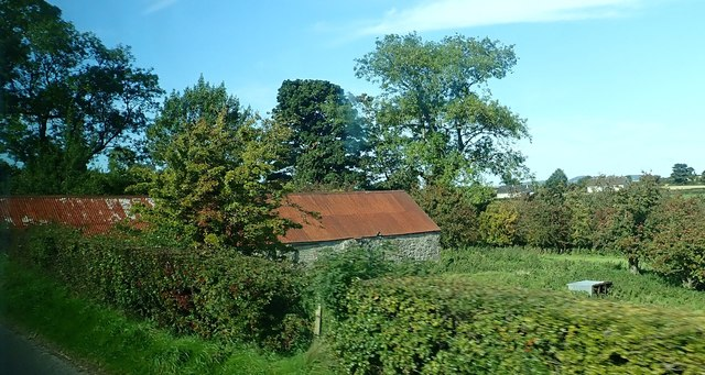 Tin roofed field barn next to the A25 (Castlewellan Road)