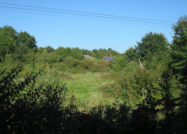Vacant plot by Wymondham Station