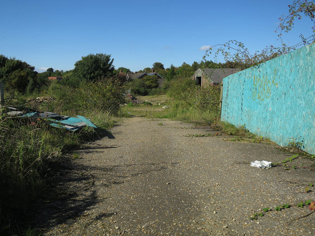 Vacant site by Wymondham Station