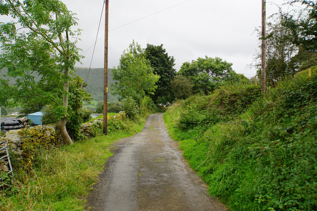 Lane below Craig yr Ychain