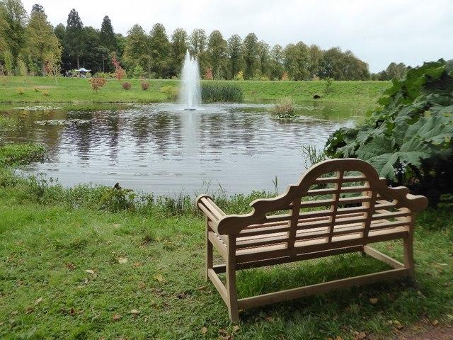 Lake in garden, Dumfries House Estate