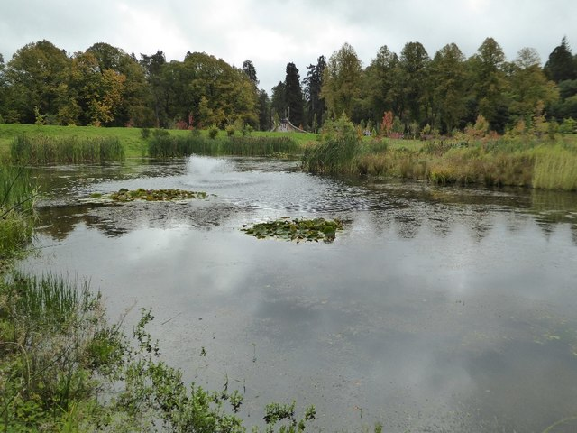 Lake in the grounds of Dumfries House