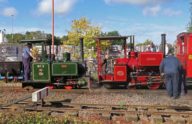 Leighton Buzzard Railway - double headed passenger train