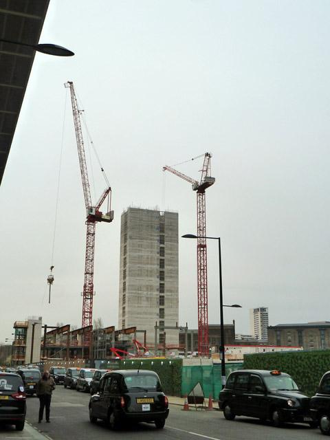 Building construction, St Pancras