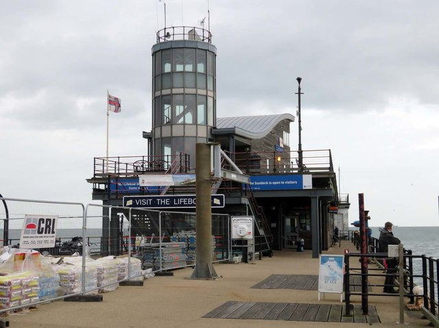 The lifeboat station on Southend Pier