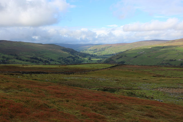View up Swaledale from Birks Edge
