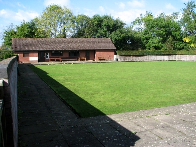 Bowling green and clubhouse