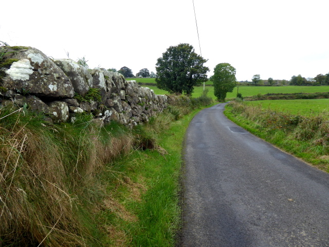 Dry stone wall along Kirlish Road