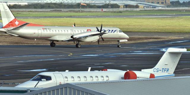 CS-TFR and HB-IZJ, Belfast City Airport (October 2017)