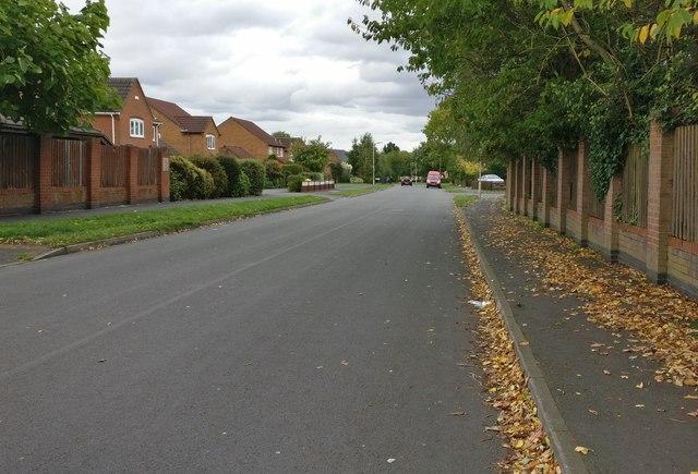 Leysland Avenue in Countesthorpe