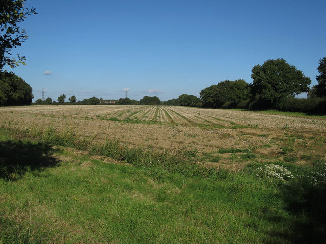 Stubble field by Pockthorpe Road