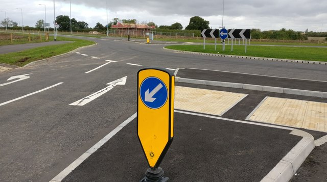 Roundabout at New Lubbesthorpe