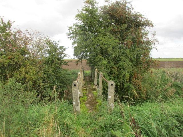 Footbridge over the Roam Drain