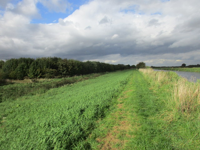 Bridleway alongside the River Hull