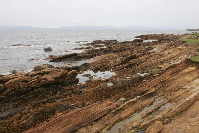Rocky shore north of Portmahomack