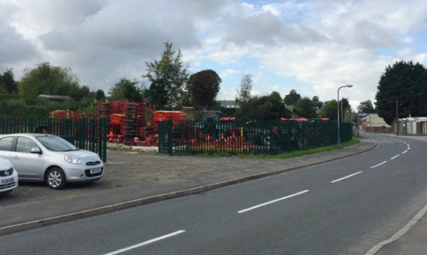 Fenced enclosure for agricultural machinery, Nelson Lane, Warwick