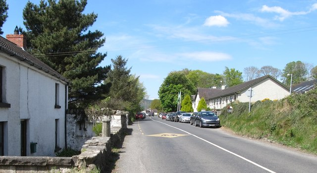 Approaching Dulargy Mixed National School from the South