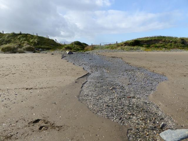 Stream on the beach