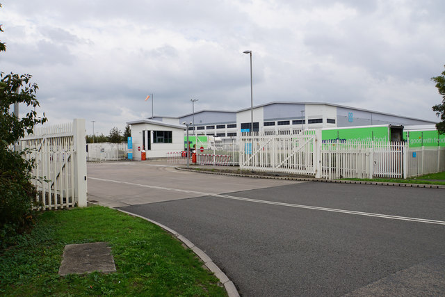 Entrance to Co-op Avonmouth Distribution Centre