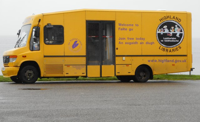Mobile library at Balintore