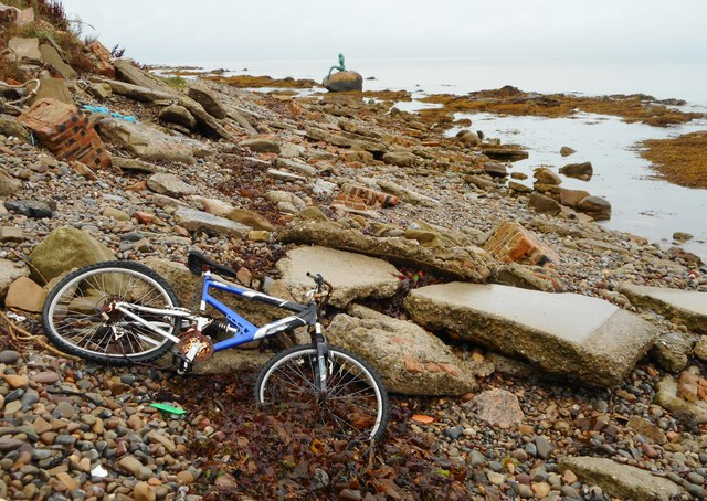 Bike on the beach, Balintore