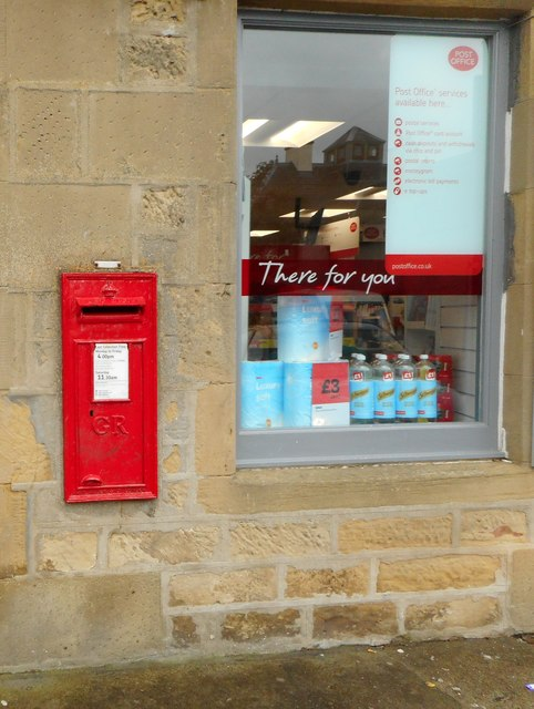 George V postbox, Balintore Post Office