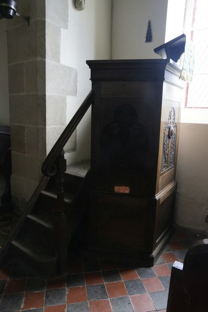 Pulpit by the arch