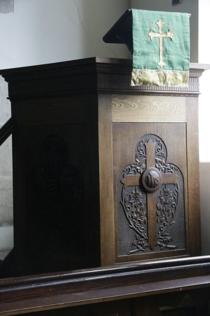 Carving on the Pulpit