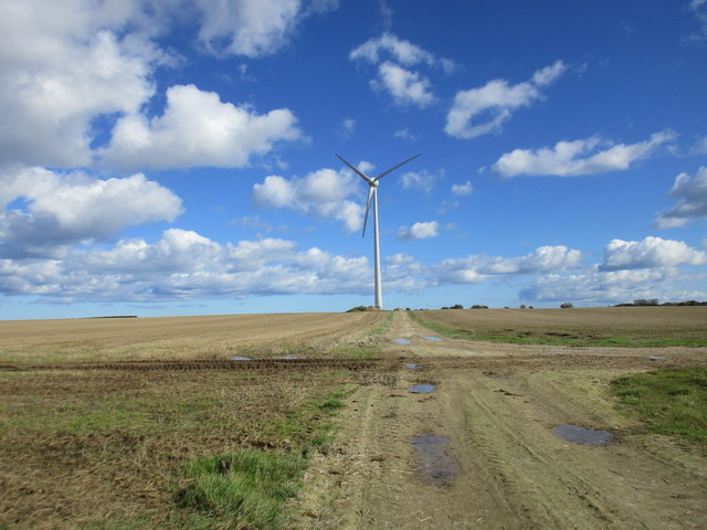 Track to a wind turbine