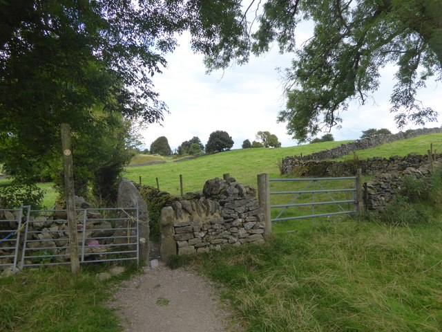 Squeeze stile, on the path from Eyam to Stoney Middleton