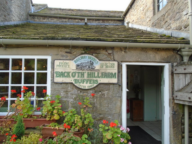 The entrance to Buffers Coffee Shop, Back o' th' Hill farm