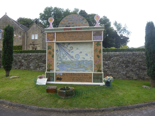 Well dressing in Eyam, 2017